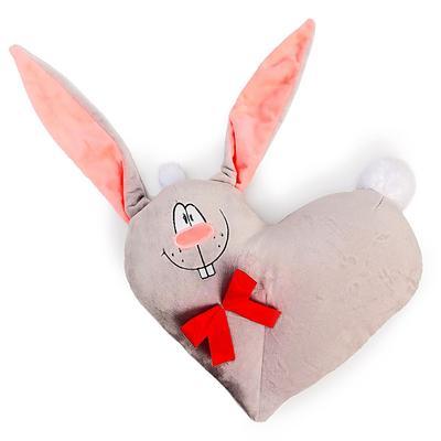 Мягкая игрушка-подушка «Сердечко - Зайчик», МИКС