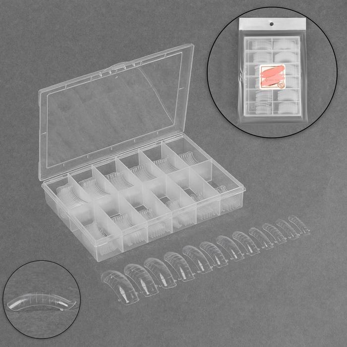Верхние формы для наращивания в контейнере, CC-изгиб, 120 шт