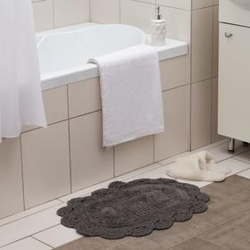 Ковер Прованс 40х60 ± 3 см, цв.серый, 1200 гр/м2, 100% хлопок