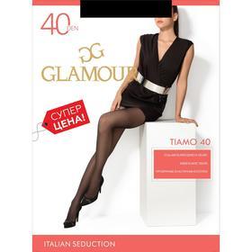 Колготки женские GLAMOUR Tiamo 40 цвет чёрный (nero), р-р 2