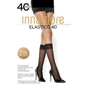 Гольфы женские INNAMORE Elastico 40 ден (2 пары) цвет чёрный (nero)