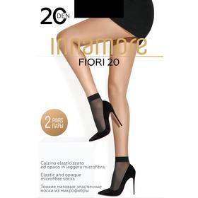 Носки женские INNAMORE Fiori 20 ден (2 пары) цвет чёрный (nero)
