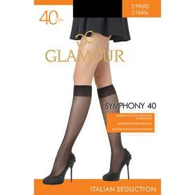 Гольфы GLAMOUR Symphony 40 ден (2 пары) цвет чёрный (nero)
