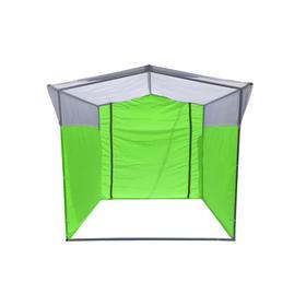 Торгово-выставочная палатка ТВП-1,5х1,5 м, цвет зелёно-белый Ош