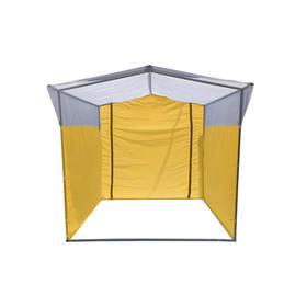 Торгово-выставочная палатка ТВП-1,5х1,5 м, цвет жёлто-белый Ош