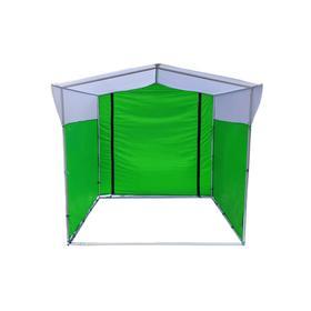 Торгово-выставочная палатка ТВП-2,0х2,5 м, цвет зелёно-белый Ош