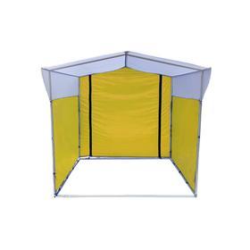 Торгово-выставочная палатка ТВП-2,0х2,5 м, цвет жёлто-белый Ош