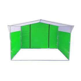 Торгово-выставочная палатка ТВП-2,0х3,0 м, цвет зелёно-белый Ош