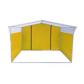 Торгово-выставочная палатка ТВП-2,0х3,0 м, цвет жёлто-белый Ош