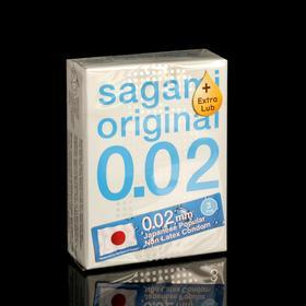 Презервативы Sagami Original,EXTRA LUB  002, 3 шт./уп.