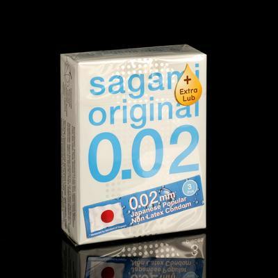 Презервативы Sagami Original,EXTRA LUB  002, 3 шт./уп. - Фото 1