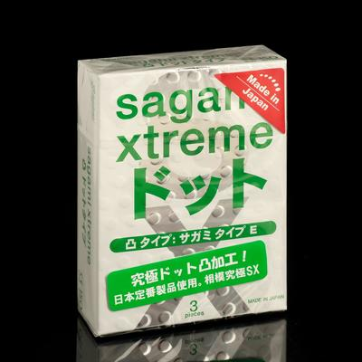 Презервативы Sagami Xtreme Type-E , 3 шт./уп. - Фото 1