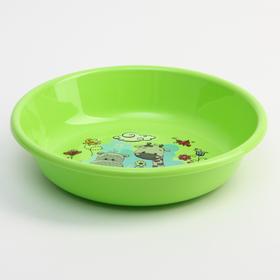 Миска - тарелочка детская глубокая «Друзья», цвет зеленый, 550 мл