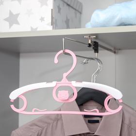 Вешалка-плечики детская «Хрюша», размер 30-36, цена за шт, цвет МИКС