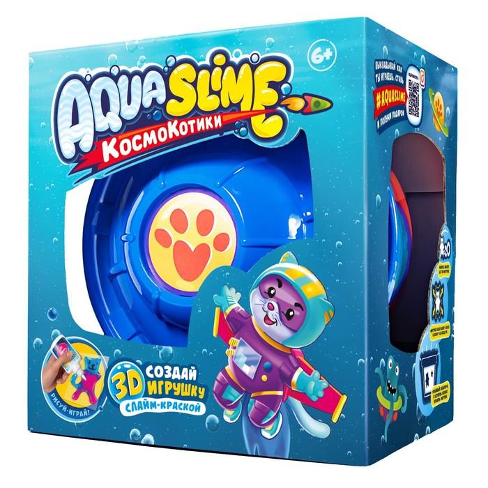 Большой набор «Aqua Slime»: набор для изготовления фигурок из цветного геля