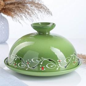 "Блинница ""Застолье"" цвет зеленый, 24х15см"
