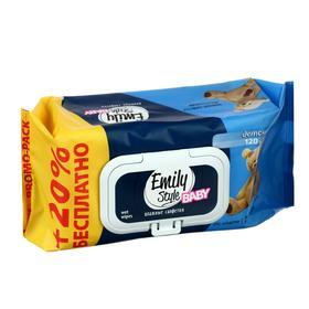 ПРОМО Emily Style влажные салфетки для детей 100 +20 штук (+20% БЕСПЛАТНО)