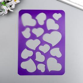 Трафарет для тиснения 'Сердечки' 14,8х10 см Ош