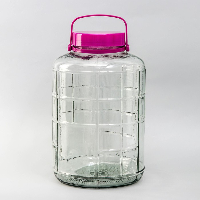 Банка стеклянная с гидрозатвором, 16 л