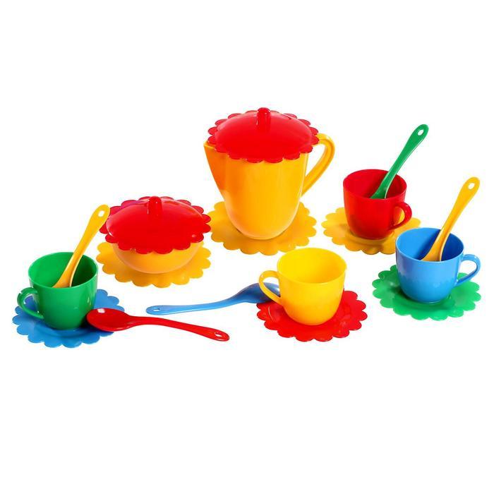 Большой набор детской посуды «Ромашка» на 4 персоны, МИКС