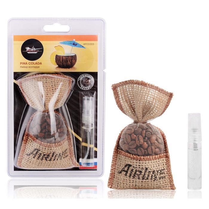 Ароматизатор AIRLINE Кофе в мешочке со спреем, пина колада AFCO203