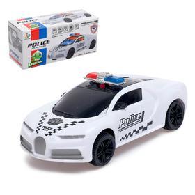 Машина «Полиция», световые и звуковые эффекты, работает от батареек