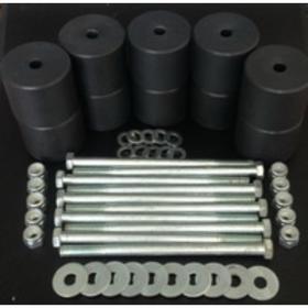 Боди лифт комплект 50 мм УАЗ Патриот капролон (d=60 мм) с крепежом, чёрный цвет Ош