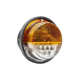 Фонарь передний жёлтый для УАЗ (диод+лампа 12В) Ош