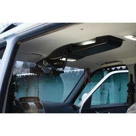 Консоль потолочная для установки р/c УАЗ Патриот рестайлинг 2015, вырез 140х40 мм, черная Ош