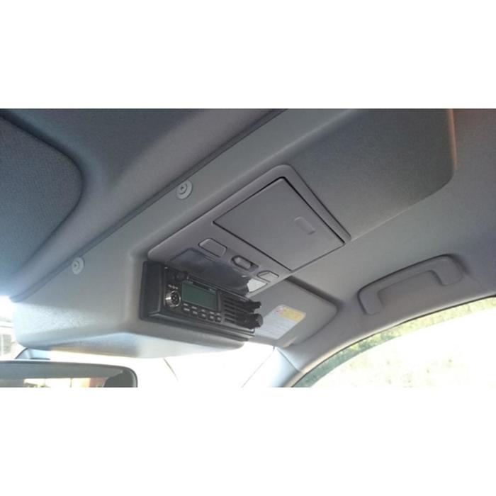 Консоль потолочная для установки рc Mitsubishi L200Pajero Sport вырез 140х40 мм, серая
