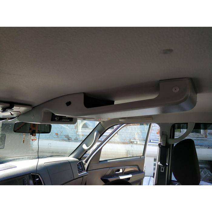 Консоль потолочная для установки рc УАЗ Патриот 2019, вырез 140х40 мм,с карманом, серая