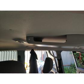 Консоль потолочная для установки р/c УАЗ Патриот 2019, без выреза под р/с, с карманом, серая   67630 Ош