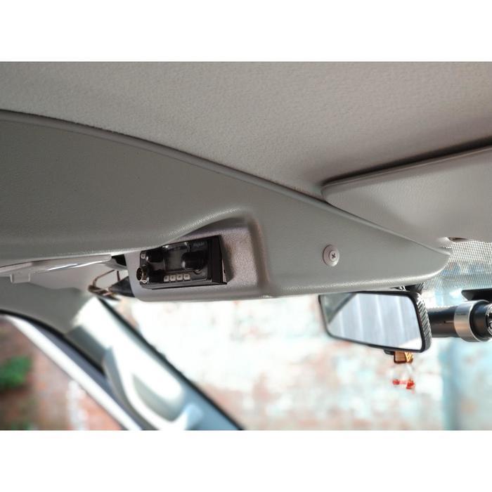 Консоль потолочная для установки рc УАЗ Патриот 2019, вырез 140х40 ,без кармана, серая