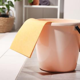 Тряпка для мытья пола Master Fresh, 50×60 см, вискоза, цвет оранжевый Ош