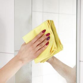 Салфетка для стёкол и зеркал Master Fresh, микрофибра, цвет жёлтый