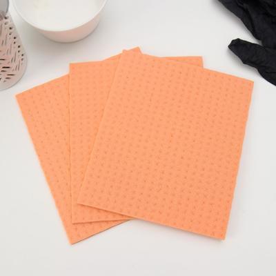 Набор салфеток для уборки Master Fresh Eco Line, влаговпитывающая, антимикробная добавка, 3 шт, цвет оранжевый - Фото 1