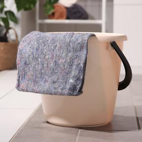 Тряпка для мытья пола PARLO, 50×60 см, хлопок, цвет серый Ош