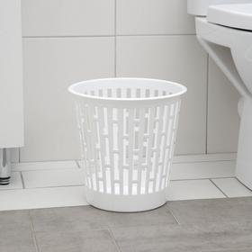 Корзина для мусора Альтернатива «Матрица», 9 л, цвет белый Ош