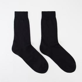 Носки мужские, цвет чёрный, размер 25-27