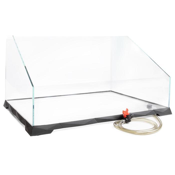 Акватеррариум с системой быстрого слива воды, стекло 6 мм, 65 х 50 х 15/37 см