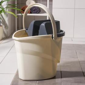 Ведро для мытья пола АКОР EXTRA-Shine 5000, 12 л, с корзиной для отжима швабры (флеттер)