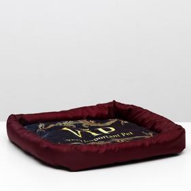 Лежанка с бортом VIP, 42 х 42 х 5 см, микс цветов Ош