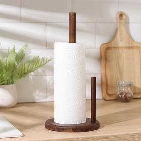 Держатель для бумажных полотенец , 16×33 см, акация