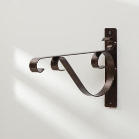 Кронштейн для кашпо, 30 см, металл, «Полоса» Ош