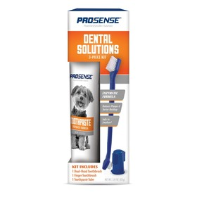 Набор 8in1 Pro-Sense для ухода за зубами для собак, 3 предмета (паста, щетка и щетка-напалечник)   4