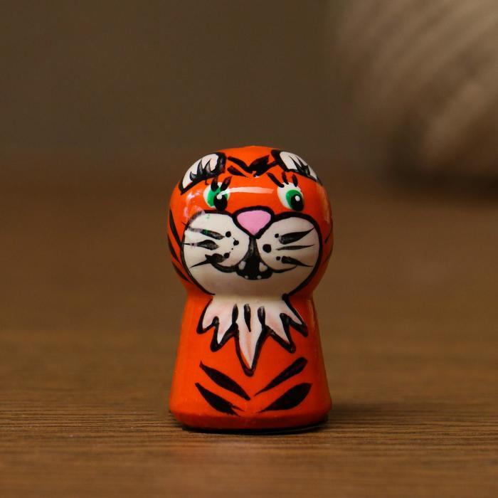 Сувенир-насадка на карандаш Животные, 3х2 см, ручная роспись, микс