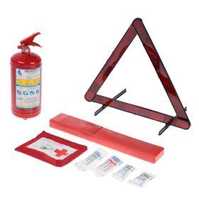 Набор автомобилиста AUTOSTART N1 огнетушитель ОП-2, знак, аптечка. в коробке Ош