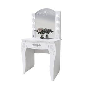 Стол туалетный с подсветкой «Розалия №12», 744 × 516 × 1450 мм, цвет лиственница белая Ош