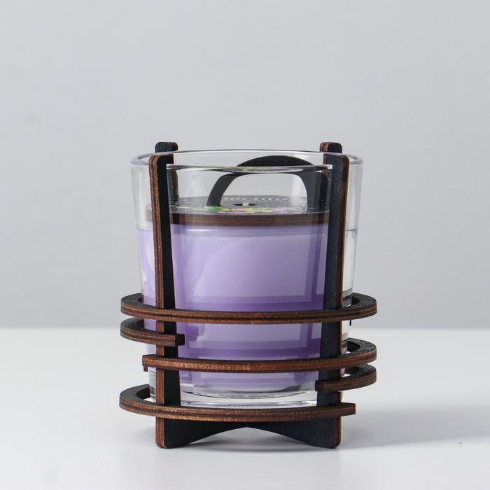 Ароматическая свеча в стекле с декором ORCHID, 10х9,5 см, 150 гр