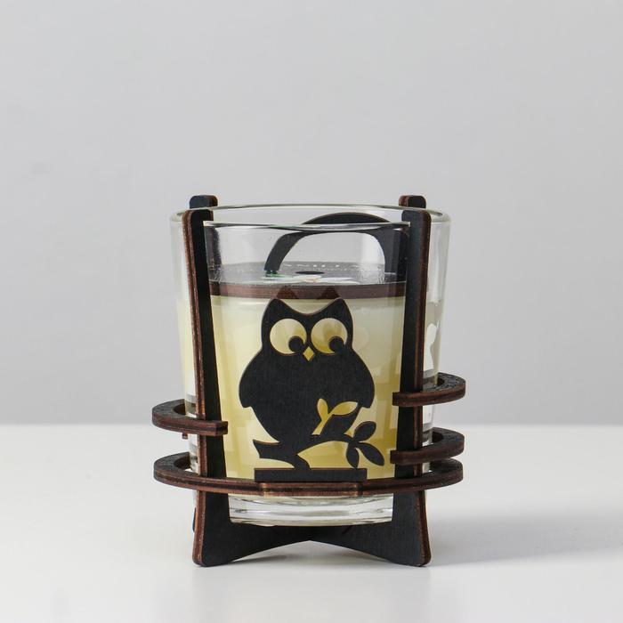 Ароматическая свеча в стекле с декором VANILLA, 10х9,5 см, 150 гр
